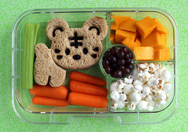 Yumbox Panino packed with a large sandwich