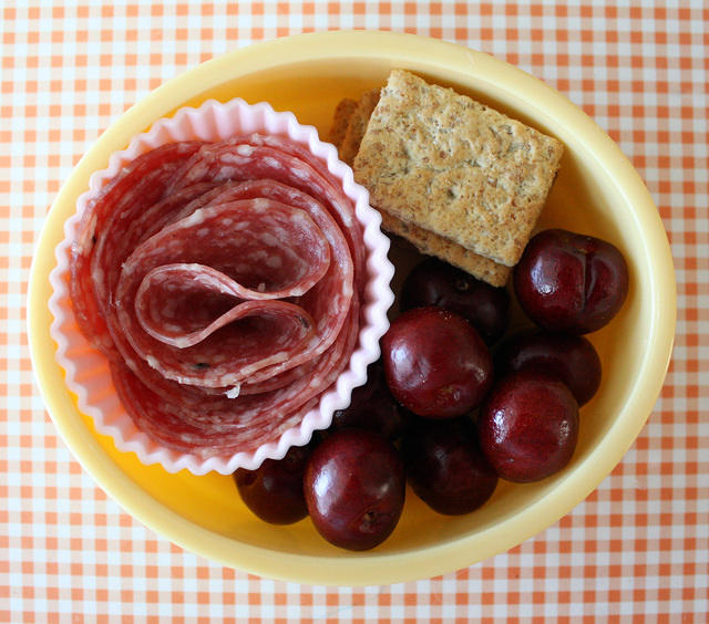 Packing Tips for Day Camp Lunches and Snacks: include protein rich snacks to keep kids going all day