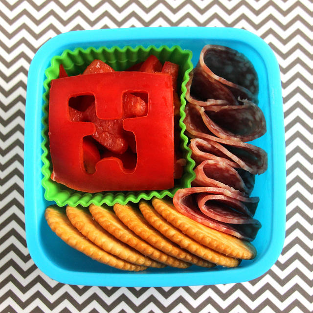 Minecraft snack for a kindergartner