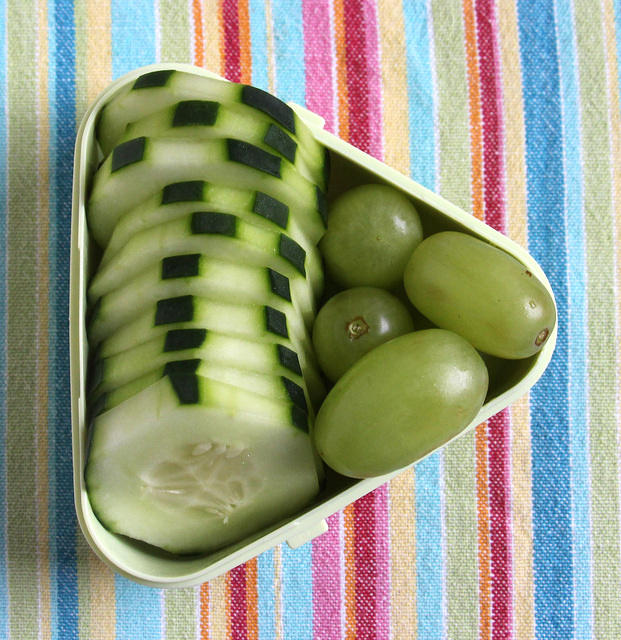 Grapes and cucumbers snack