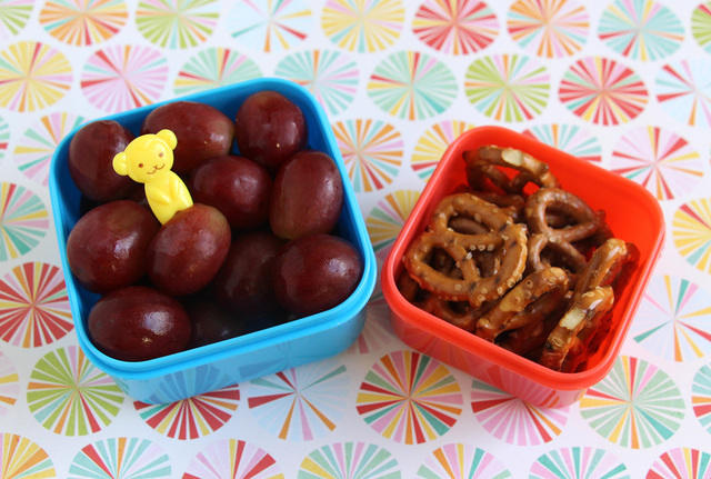 Grapes and Pretzels Snack