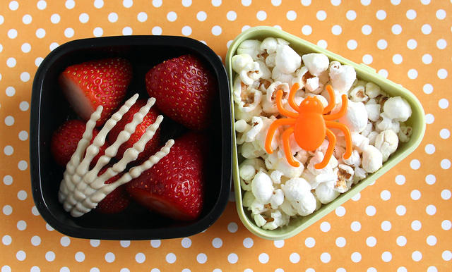 Skeleton Stawberries and Spider Popcorn