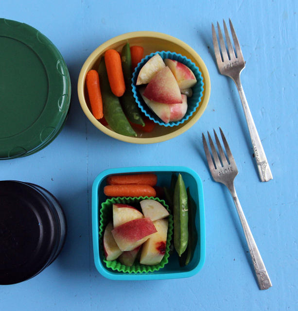 Thermos lunches with snack box side cars for day camp
