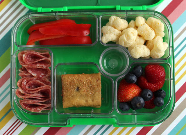 Easy Yumbox lunch for a fifth grader