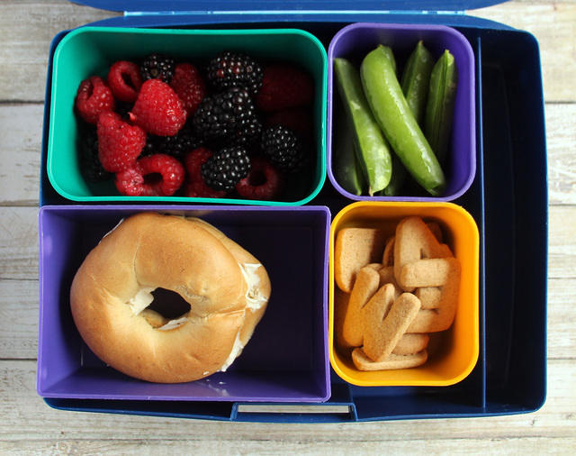 Mini bagel lunch for a big kid