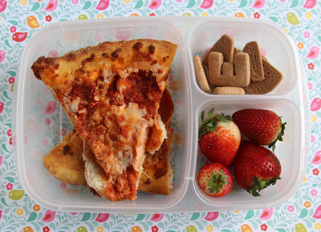 5th grader pizza lunch -- my kid loved me so much for this one!