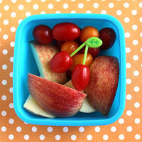 """Cherry"" tomatoes and apples snack"